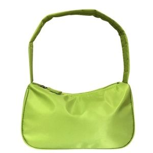 Mini Baguette Shoulder / Hand Bag Nylon Retro
